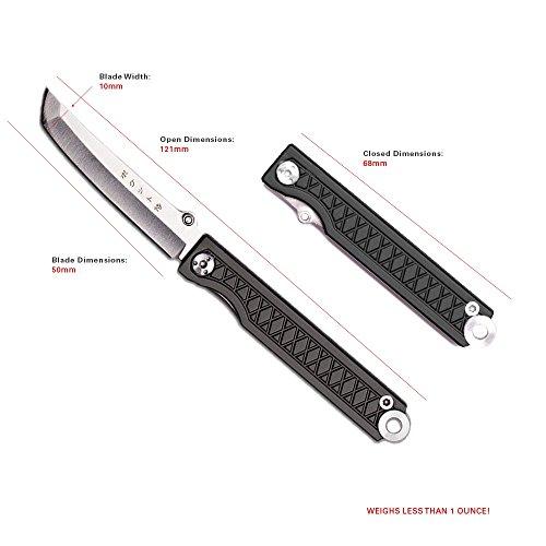 StatGear Pocket Samurai Folder Knife 2.25 in Blade Red Aluminum by StatGear (Image #8)