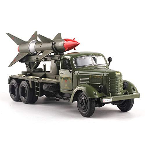 Ocamo 1:32 高シミュレーション ミリタリー ミサイルカー 精巧なモデル おもちゃ 合金 プルバック 車両スタイリング カーモデル おもちゃ サウンド&ライト付き