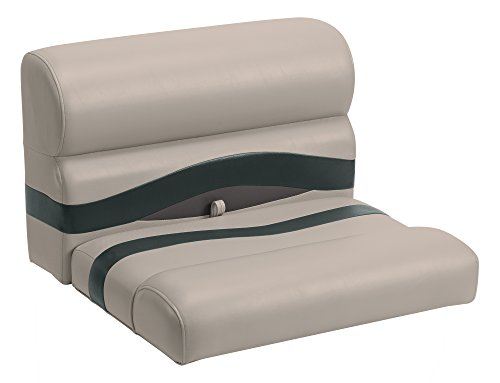 (Wise Premier Series Pontoon 27-Inch Bench Seat, Cushions Only, Mocha Java/Mocha Java Punch/Evergreen/Rock Salt)
