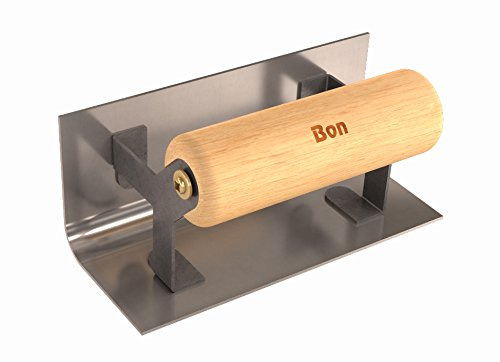 Bon 12-512 6-Inch by 2-1/2-Inch Stainless Steel Step and Corner Inside Tool, 1/2-Inch Radius with Wood Handle (Corner Steel Trowel)