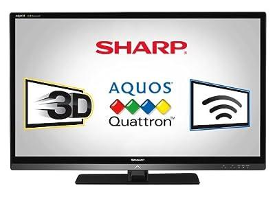 Sharp LC40LE835U Quattron 40-inch 1080p 240 Hz 3D LED-LCD HDTV, Black