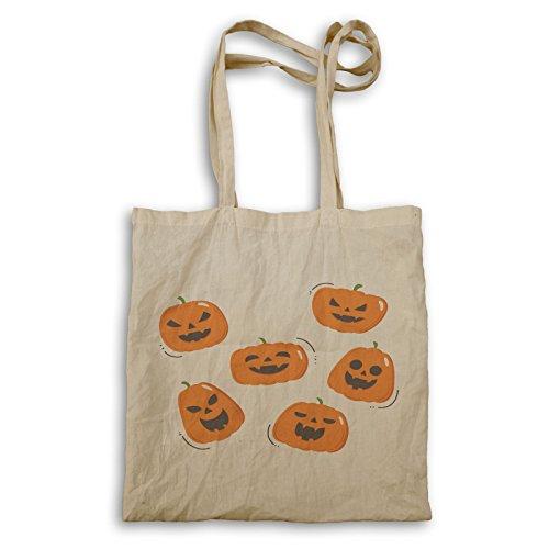 Spaventoso Zucca Di Halloween Borsa Per Il Trasporto Q179r