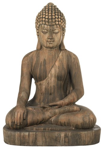 Sitting Buddha Faux Sandstone 29 1/2″H Outdoor Statue