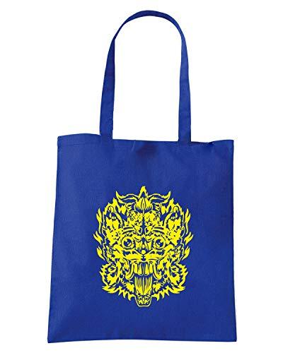 Borsa Shopper Royal Blu FUN1186 DEMON MASKAIL