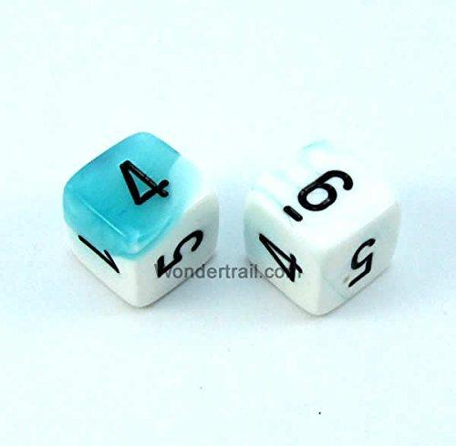 入荷中 WCXPG0644E2 (5/8in) White and Teal Black Gemini Dice with Black Numbers with D6 16mm (5/8in) Pack of 2 Dice Chessex B00VWWVY0K, クローバーリーフ:1bc91516 --- ballyshannonshow.com
