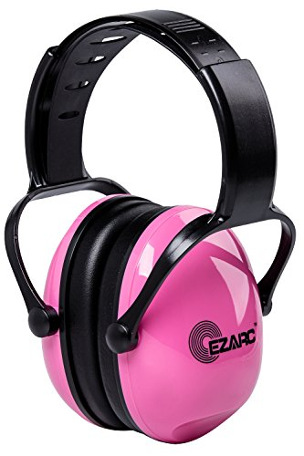 EZARC Comfortable Women and Kids Safety Ear Muffs 30dB for Hearing Protection - Noise Reduction Earmuffs for Shooting Sports Events Reading , Pink