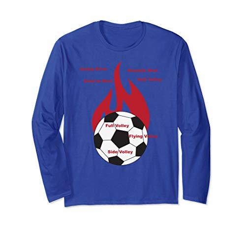 7 Soccer Shots with Flaming Soccer Ball - - Soccer Ball T-shirt Flaming