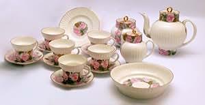 Juego de café de la porcelana Manufaktur Lomonosov de San Petersburgo/Rusia/URSS: Servicio de café para 6 personas
