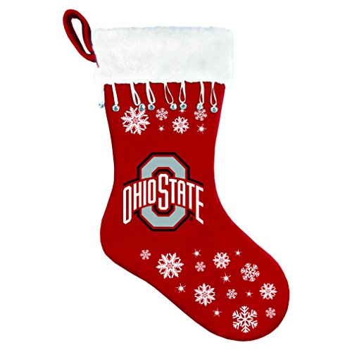 Boelter Brands NCAA Ohio State Buckeyes Crimson Tide Snowflake Stocking ()