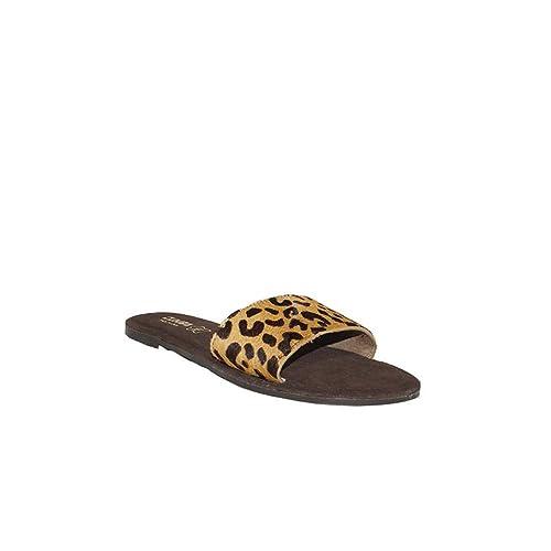 6969 Planas Cumbia Piel Leopardo Mujer Sandalia Sandalias lJFcKT1