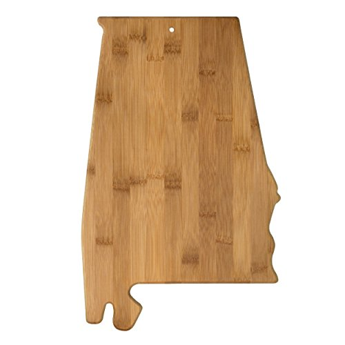 Totally Bamboo 20-7960AL Alabama State Shaped Bamboo Serving & Cutting Board, ()