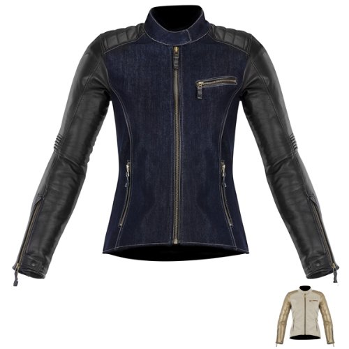 Alpinestars Renee Women's Textile/Leather Street Bike Motorcycle Jackets - Blue/Black/Size 38 ()