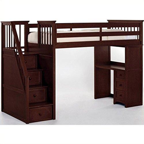 (NE Kids School House Stair Loft Bed in Cherry)