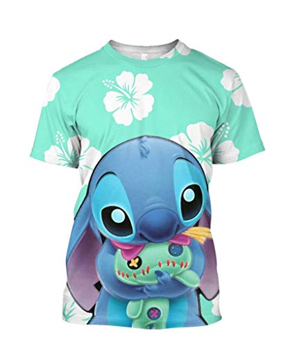 Cute Blue Stitch 3D All Over Printed - Funny Vintage Trending Awesome Shirt Unisex Style (Unisex Shirt, ()