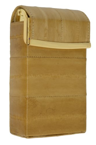 Eel Skin Genuine Leather Sliding Cigarette Case ()