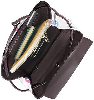 Zaino Donna Vera Pelle Network Happy Faces, Borsa Da Viaggio a Grande Capacità, Borsa a Tracolla Lady Fashion Backpack Daypack Per Scuola Viaggio Lavoro