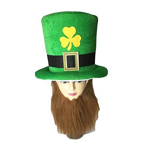 BaronHong 50 Pieces Costume - Leprechaun Hat - St. Patricks Day Accessories - Lucky Charm Costume(A,M) ()