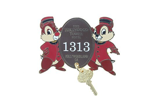 Price comparison product image Disney Hollywood Tower of Terror Hotel Room 1313 Key Featuring Chip 'N Dale Pin