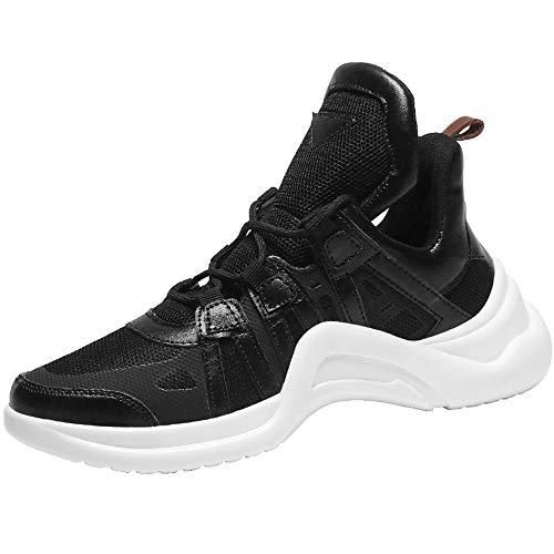 MIKA HOM Fashion Student Casual Shoes Non-Slip Waterproof Men's Outdoor Hiking Shoes(Black 35/3 D(M) US Men) (Ryn Fashion Men)