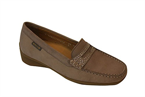 Warm Mujer Mocasines Mephisto Gray 38 Beige para wqFvOx8If