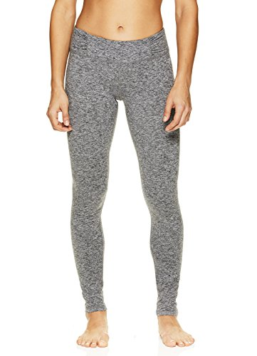 (HEAD Women's Cold Day Shirred Leggings  - Performance Activewear Yoga & Running Pants - Medium Grey Heather, Small)