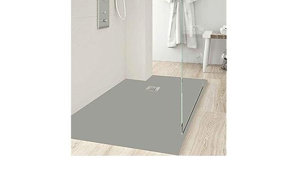 Zenon - Plato de ducha rectangular modelo Slate 80 x 100 Gelcoat ...