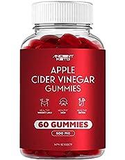 Apple Cider Vinegar Gummy, Great Tasting, Low Sugar, Supports Healthy Digestion, Weight, Skin, Detox, Gluten Free, Vegan, ACV Gummies, 500mg per Serving, by Ancient Keto (60 Count)
