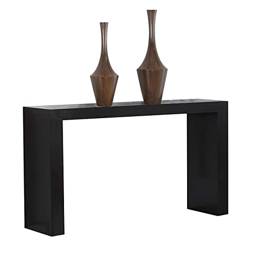 Mesa de tocador de Madera Maciza, Color Negro, Consola de ...