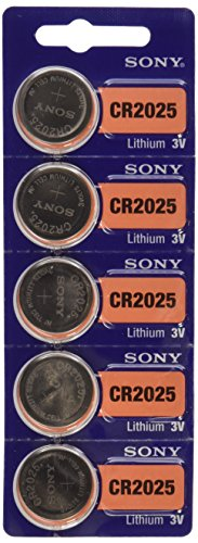 Sony Lithium 3V Batteries Size CR2025(1 Blister of 5) - Cr2025 3v Battery