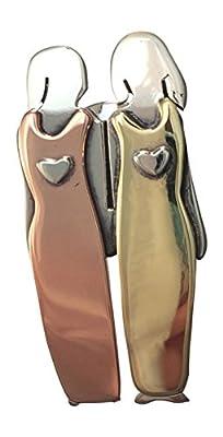 Two Sisters Pin Twin 2 Best Friends Brooch Girlfriends Mima & Oly