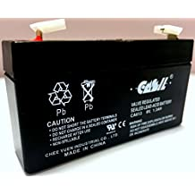 6V 1.3Ah SLA BATTERY LEOCH DJW6-1.2 T1 F1 6V1.3AH 6V1.4AH 6V1.2AH LP6-1.4 - 2 Pack - Replacement of Mighty Max Battery