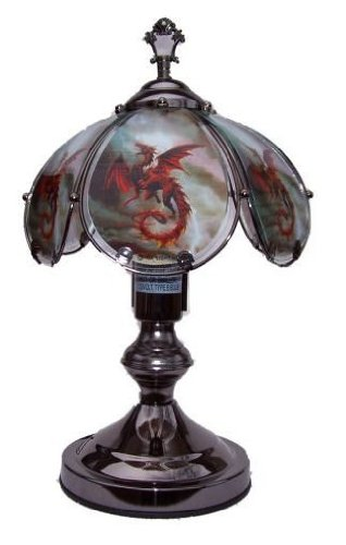 OK LIGHITNG OK-603C-US12-SP3 14.25 in. Flying Dragon Touch Lamp