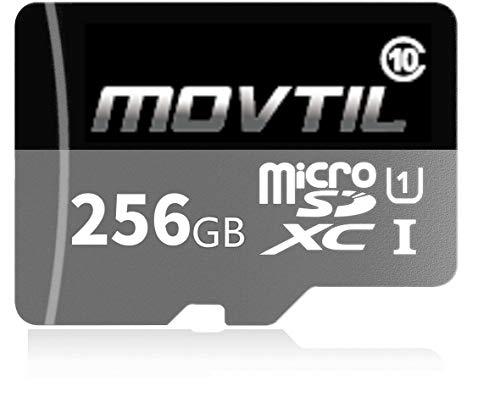 MOVTIL 256GB Micro SD SDXC High Speed Class 10 Transfer Spee