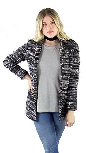 Drew Ferrera Structured Cardigan, Black/Charcoal,