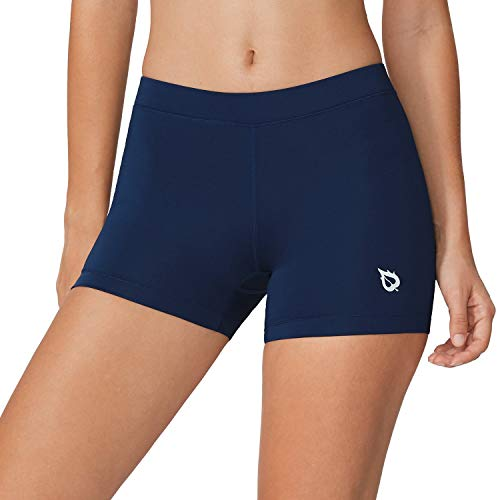 BALEAF Women's 3 Inches Active Fitness Compression Volleyball Shorts Workout SpandexNavy Size L
