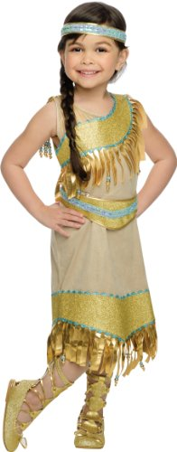 [Rubies Golden Indian Princess Deluxe Costume, Toddler Size] (Toddler Indian Costumes)