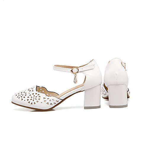 Blanc Blanc Femme Sandales 36 EU 5 BalaMasa Compensées 7gwZqxqS