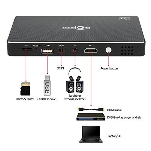 Homeerr DLP Portable Pico Video Projector