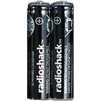 "Amazon.com: Radio Shack 850mAh 1.2V ""AAA"" Nimh Batteries"