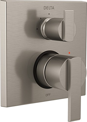 Delta Faucet T24867-SS Ara Angular Modern Monitor 14 Series Valve Trim with 3-Setting Integrated Diverter, Stainless