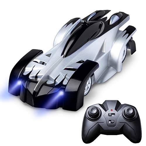(Force1 Gravity Defying Remote Control Car - RC Cars for Adults, Kids, Boys or Girls, Race Car Toys for Floor or Wall w/ USB for Rechargeable Fast RC Car (Black))