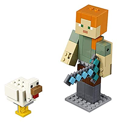 LEGO Minecraft Alex BigFig with Chicken 21149 Building Kit (160 Piece) from LEGO