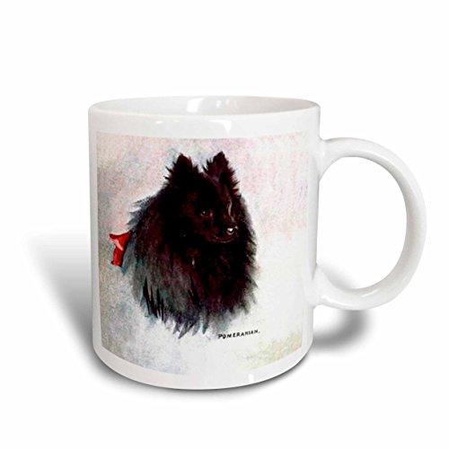 3dRose Black Pomeranian Mug 11 Ounce