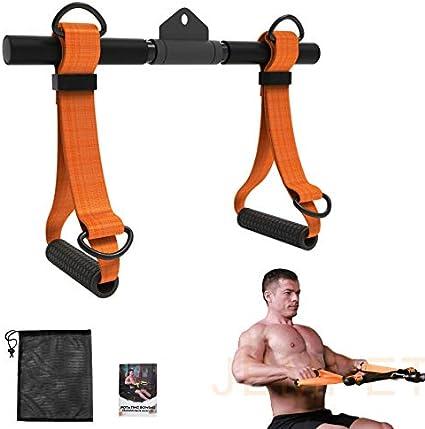 Jempet - Accesorio para máquina de ejercicio, mango de máquina de remo desmontable, todo en uno, correa de ejercicio