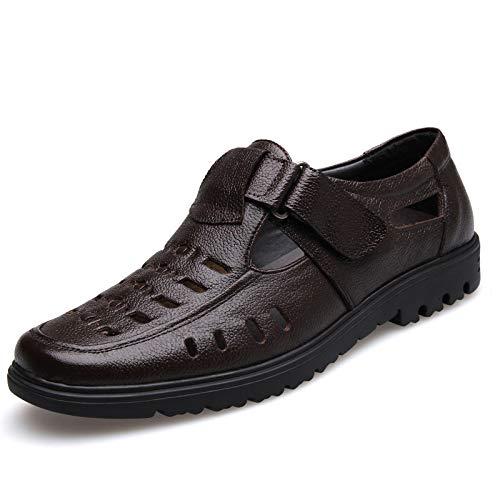 Colore con Nero I fuori di Marrone Dimensione da EU stoffa uomo 43 gli sandali gancio scavano ZHRUI zoccoli genuini 4OqEwRR