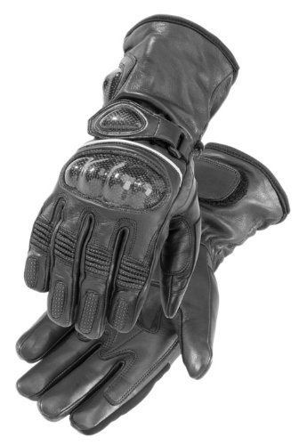 FirstGear Carbon Men's Warm and Safe Heated Street Motorcycle Gloves - Black / X-Large
