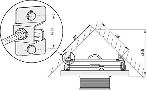 Urinal Montagerahmen 1200mm zur Eckmontage
