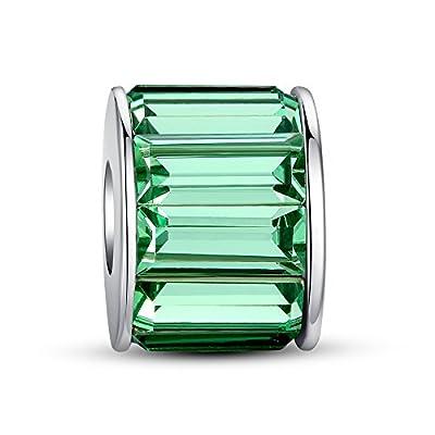 Glamulet Jewelry Women's 925 Sterling Silver Crystal Wheel Charm Fits Pandora Bracelet from Glamulet