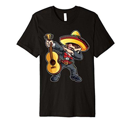 Dabbing Mariachi T Shirt Cinco de Mayo Dab Men Kids -