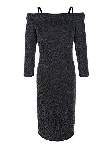 42 Marken 40 Schwarz 1217452490 AV Gr mit Kleid metallisiertem Garn Gr Jersey vOHxdwqB